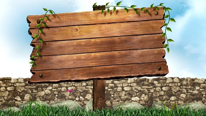 蝴蝶飞过的木块边框视频素材