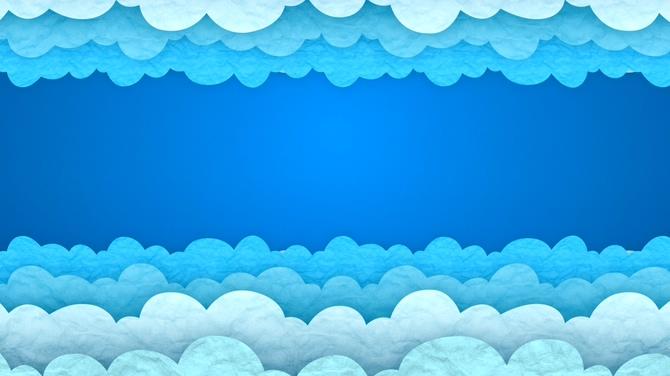 时尚浪漫的蓝色云朵对称的视频素材