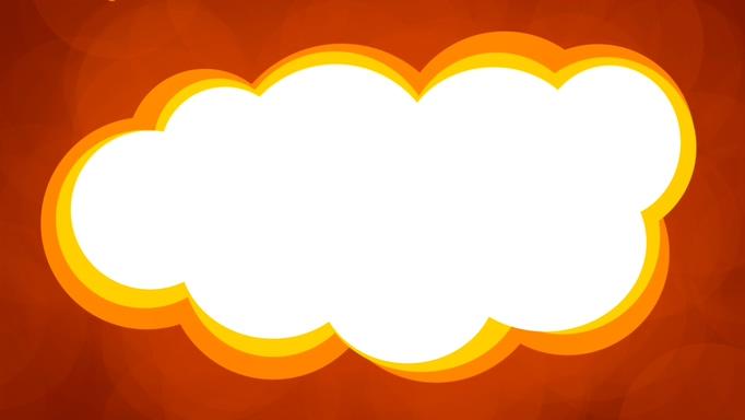 充满趣味的彩色云朵边框视频素材