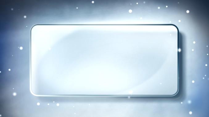 浪漫雪花飘落的长方形边框视频素材