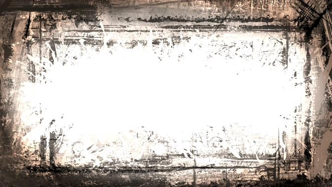 时尚潇洒的黑白边框视频素材