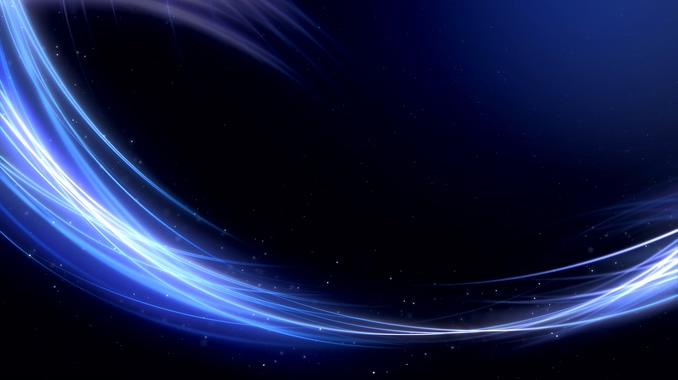 唯美梦幻的蓝色光线视频素材