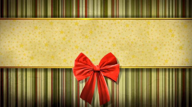 红色蝴蝶结金色五角星边框视频素材