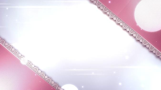 浪漫唯美的水晶花边视频素材