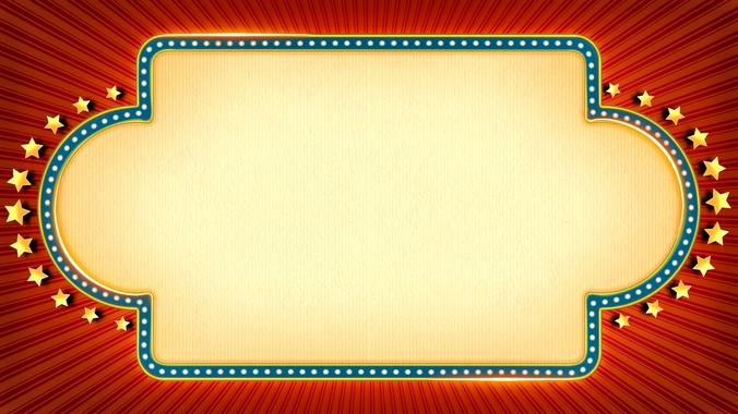 金色五角星旋转边框的视频素材