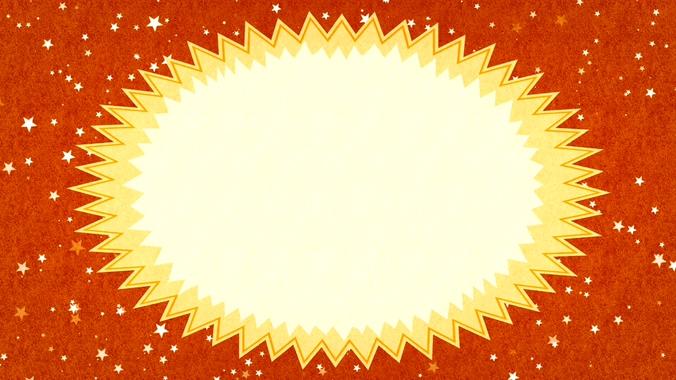 火红背景星星飘落的视频素材
