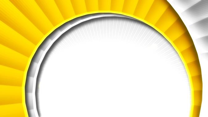 黄色旋转花朵边框的视频素材