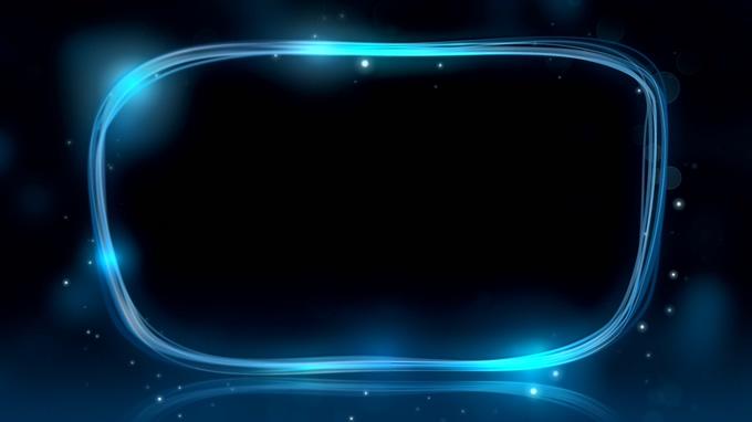 唯美梦幻的蓝色光线边框视频素材