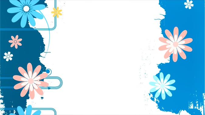 卡通花边旋转的边框视频素材
