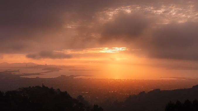 浪漫唯美的落日余晖实拍视频