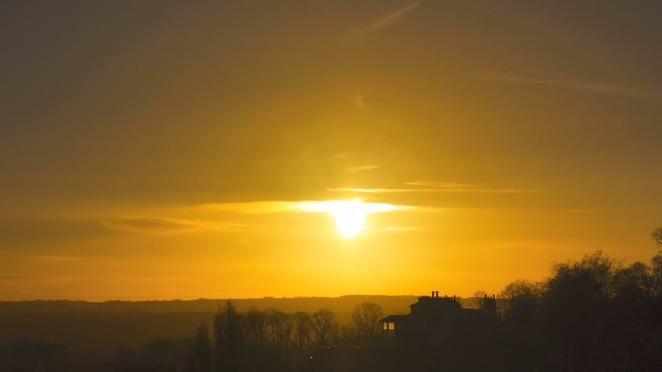 浪漫唯美的日出到日落的全过程实拍视频