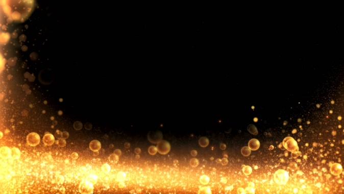 时尚震撼的金色气泡边框视频素材