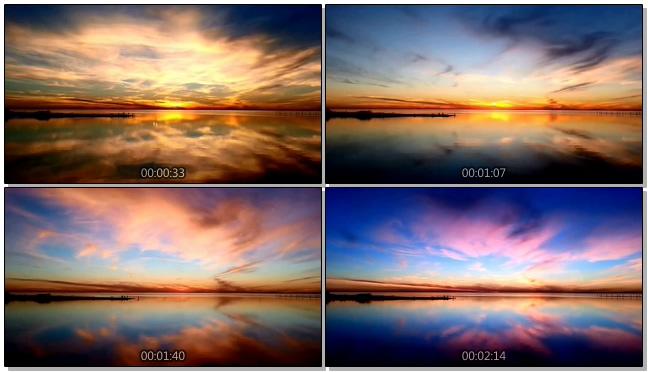 浪漫唯美的海天一色夕阳落下实拍视频