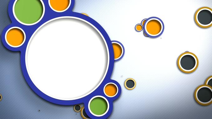 充满趣味的彩色拼盘边框视频素材