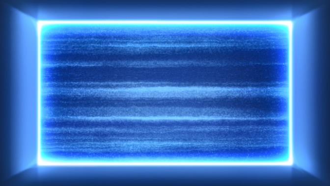 浪漫唯美的蓝色粒子边框视频素材