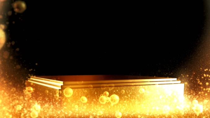 重金属金条气泡组成的边框视频素材