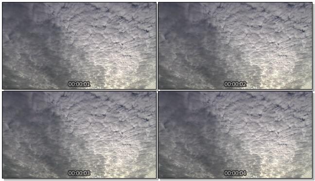 阴天多云的天空视频素材