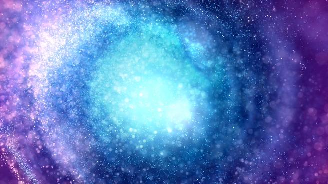 唯美梦幻的彩色星光粒子旋转视频素材