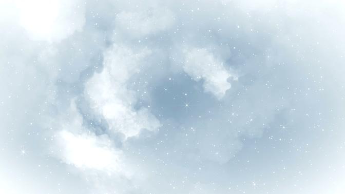 浪漫唯美的白色云彩粒子闪耀视频素材