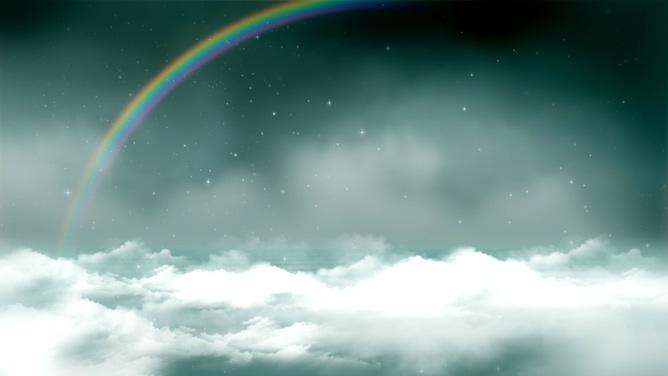 唯美梦幻的彩虹横跨的视频素材