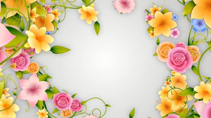多彩唯美花卉背景视频素材