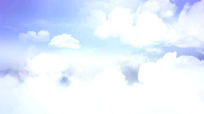 晴朗天空白色云彩的视频素材