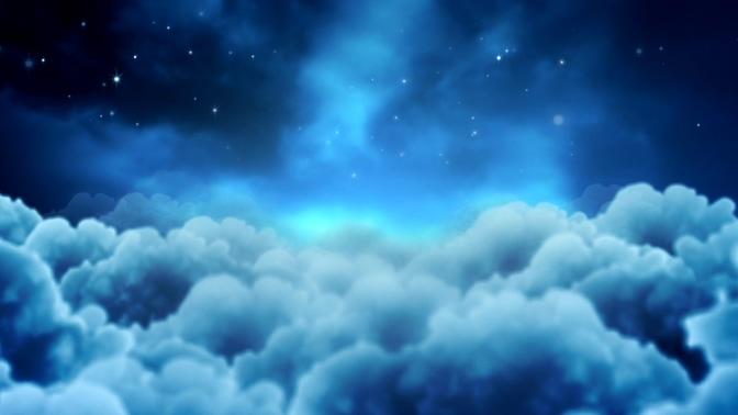 浪漫唯美的宇宙星光闪烁视频素材