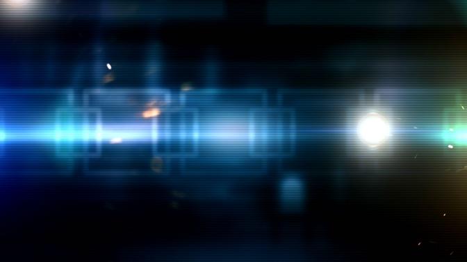 蓝色科技眩光视频素材