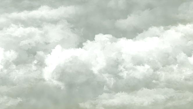 白色云彩往左边移动的视频素材