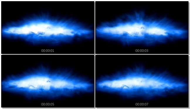 唯美梦幻的蓝色星光闪耀视频素材