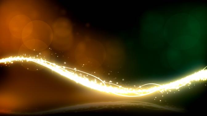 金色光带眩光视频素材