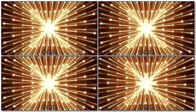 金色霓虹灯向四周散开的视频素材