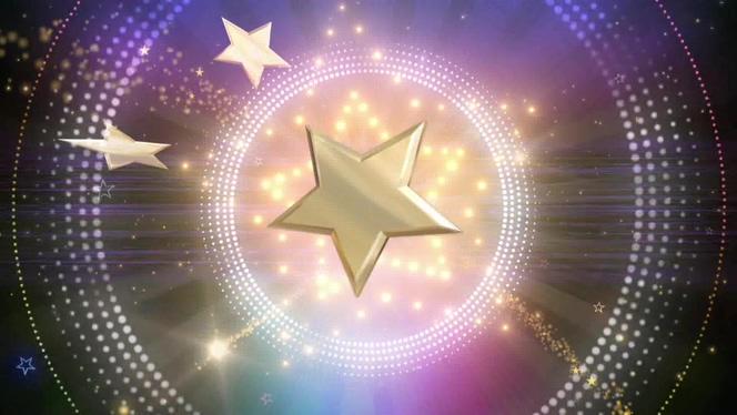 时尚动感的五角星舞台灯光视频素材