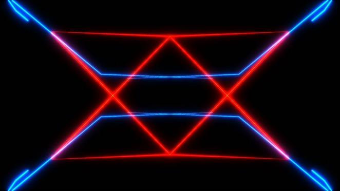 彩色灯光线条交错的视频素材