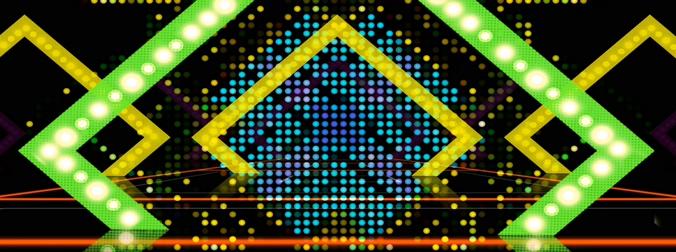 时尚梦幻的动感灯光粒子视频素材