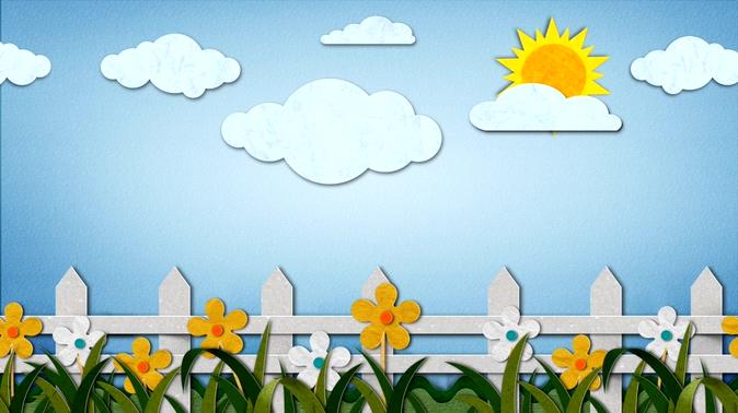简洁纸质阳光栅栏背景视频素材