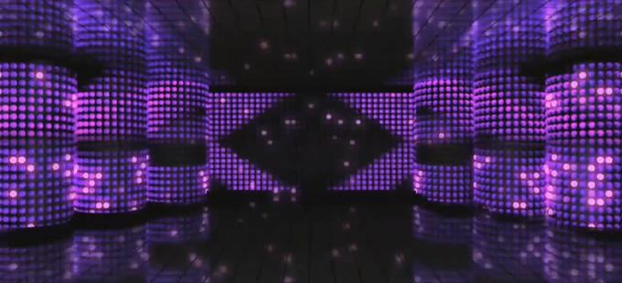 梦幻紫色灯光舞台背景视频素材