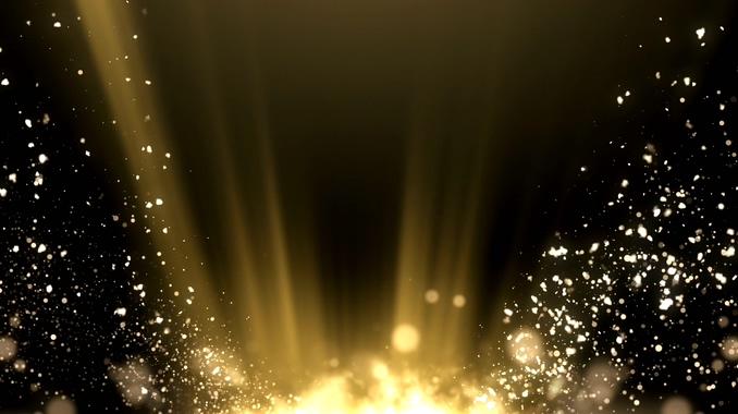 白色灯光粒子从地面照射上来的视频素材