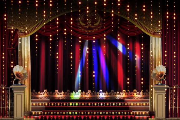 充满年代感的老上海舞台灯光视频素材