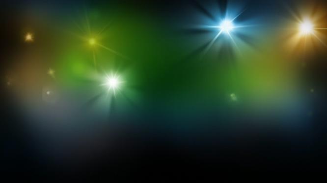 唯美梦幻的灯光似星星闪耀的视频素材