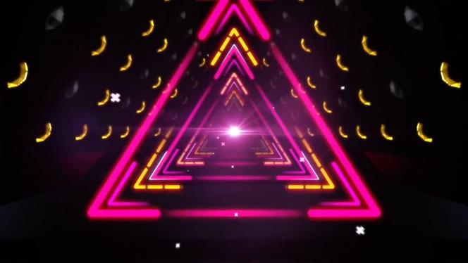 时尚浪漫的三角灯光隧道视频素材