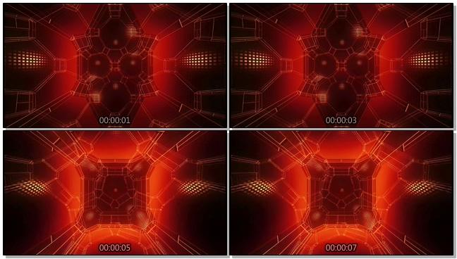 时尚高端的红色灯光背景视频素材