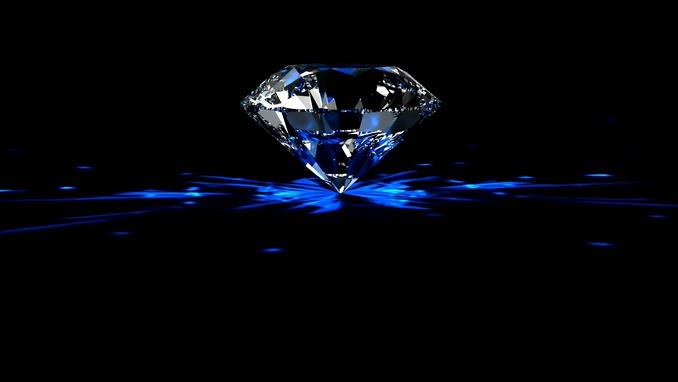 唯美梦幻的钻石全景视频素材