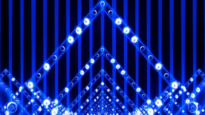 动感绚丽的蓝色灯光视频素材
