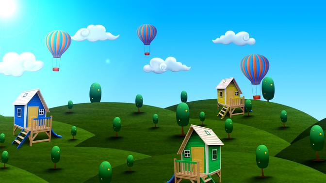 微立体森林童话背景视频素材