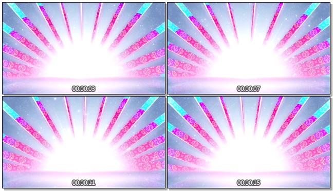 粉紫色花纹背景视频模板