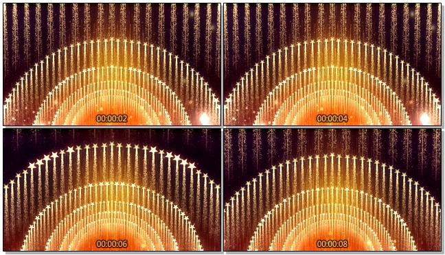 金色大气的五角星霓虹灯变换闪烁视频素材