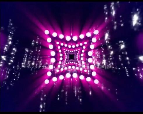 唯美梦幻的闪耀五角星灯光视频素材