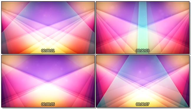 唯美梦幻的灯光交替的视频素材