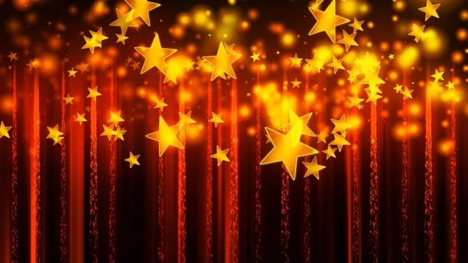 唯美梦幻的五角星旋转视频素材